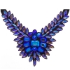 Crystal Motifs Necklace Wings Purple Aurora Borealis